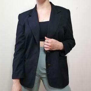 Vintage black blazer structured shoulders